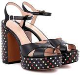 Marc Jacobs Embellished pantent leather sandals