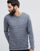 ONLY & SONS Knitted Woven Panel Crew Neck