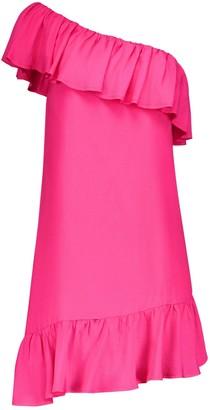 Blonde Gone Rogue Summer Escape Dress In Fuchsia Pink