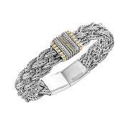 Effy 925 Sterling Silver, 18K Yellow Gold and Diamond Tennis Bracelet