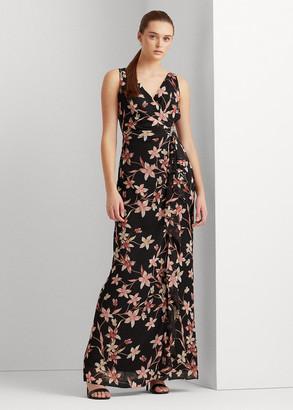 Ralph Lauren Floral Georgette Gown