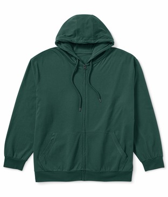 Amazon Essentials Men's Big & Tall Lightweight Jersey Full-Zip Hoodie fit by DXL Sweater