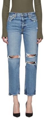 GRLFRND Blue Ripped Knee Helena Jeans
