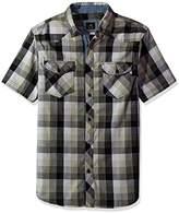 Lee Men's Short Sleeve Button Down Plaid Shirt