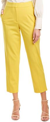 Oscar de la Renta 2 Pocket Tapered Ankle Wool-Blend Pant