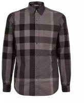 Burberry men's long sleeve exploded check button down shirt XL