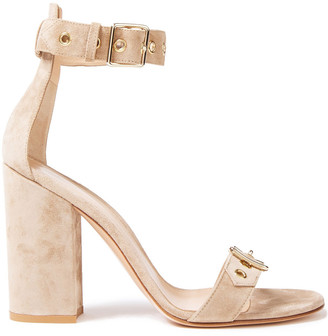 Gianvito Rossi Hayes Buckle-detailed Suede Sandals