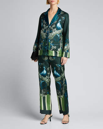 F.R.S For Restless Sleepers Peacock-Print Pajama Pants