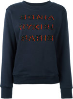 Sonia Rykiel beaded logo sweatshirt - women - Cotton - XS