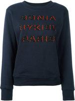 Sonia Rykiel beaded logo sweatshirt
