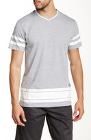 Burnside Striped V-Neck Tee