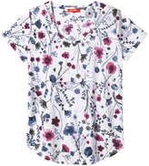 Joe Fresh Women's Print Slub tee, White (Size XS)