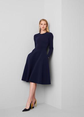 Ralph Lauren Viola Double-Faced Cady Dress