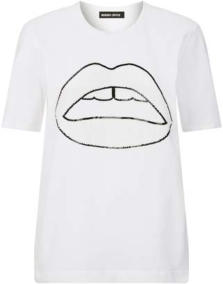 Markus Lupfer Alex Sequin Lip T-Shirt