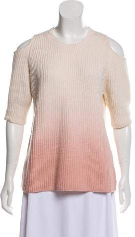 027a9bfc1be Cold Shoulder Cut Out Sweater - ShopStyle