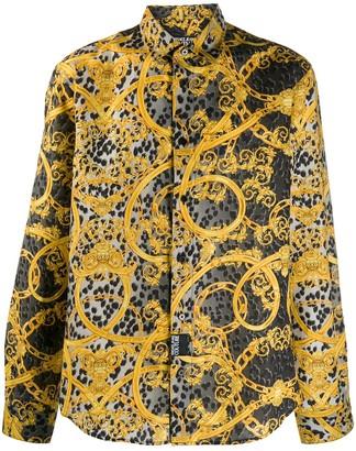 Versace Baroque leopard print shirt