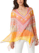 Hale Bob Bead-Embellished Silk Tunic