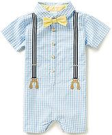 Edgehill Collection Baby Boys Newborn-6 Months Gingham Romper
