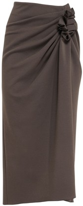Sportmax Cottage Compact Jersey Midi Skirt