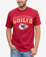 Junk Food Clothing Men's Kansas City Chiefs Split Arch T-Shirt
