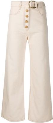 REJINA PYO High-Waisted Button-Up Jeans