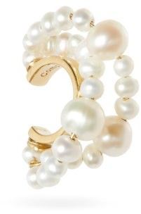 COMPLETEDWORKS Cumulus Pearl & 14kt Gold-vermeil Ear Cuff - Pearl