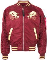 Alpha Industries Japan embroidered bomber jacket