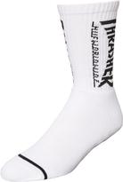 HUF X Thrasher Logo Crew Sock White