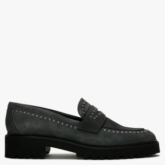 Daniel Emilia Grey Suede Loafers