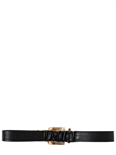 Francesco Scognamiglio Nappa Leather High Waist Belt