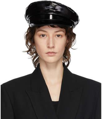 Ann Demeulemeester Black Leather Fisherman Hat