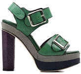 Chrissie Morris Ida Colorblock Sandal in Green