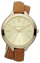 Michael Kors Ladies Goldtone Slim Runway Watch