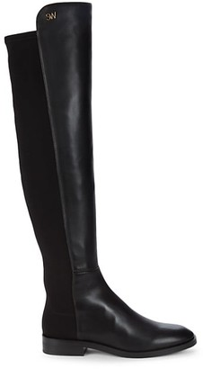 Stuart Weitzman Keelan Leather Over-The-Knee Boots