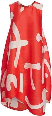 Pleats Please Issey Miyake Pause Printed Shift Dress