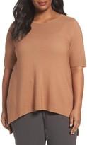Eileen Fisher Plus Size Women's Tencel Knit Top