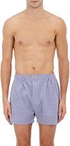 Barneys New York Men's Mini-Checked Cotton Poplin Boxers