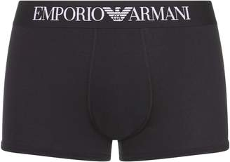 Emporio Armani Logo Motif Trunks