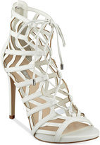 GUESS Women's Anasia Lace-Up Caged Gladiator Sandals