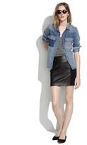 Madewell Leather-Panel Skirt