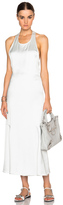 Calvin Klein Collection Floria Shiny Viscose Drape Dress
