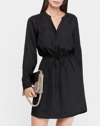 Express Tie Waist Shirt Dress
