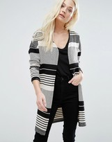 Only Pearl Stripe Open Cardigan