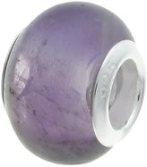 Unknown Dreambell .925 Sterling Silver Round Natural Amethyst February Birthstone European Bead Charm Fits Pandora