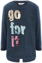 M&Co Sequin slogan knitted top