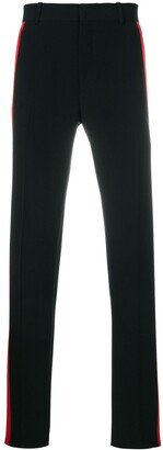 Alexander McQueen Side-Stripe Straight Trousers