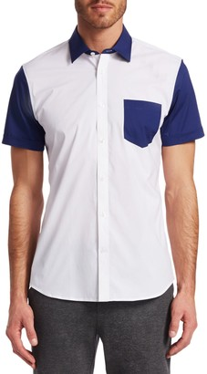 Saks Fifth Avenue MODERN Colorblock Woven Shirt