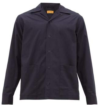 Saturdays NYC Jefferson Logo-embroidered Cotton Overshirt - Mens - Navy