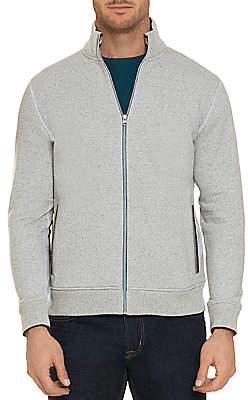 Robert Graham Men's Knowles Cotton Fleece Zip Cardigan