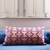 Graham and Green Anya Blue And Purple Mayan Print Rectangular Cushion